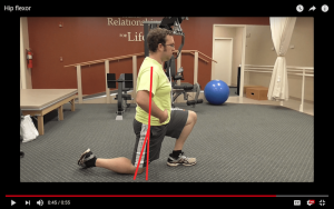 Stretching the hip flexors to help get better motion for gluteus maximus strengthening