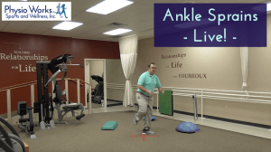 Ankle sprains live at physioworks in huntsville alabama providing top ankle physical therapy