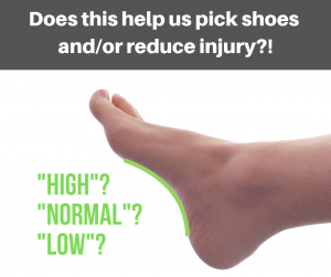 Arch height doesnt help predict the right type of running shoe